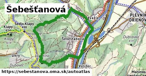 ikona Mapa autoatlas  sebestanova