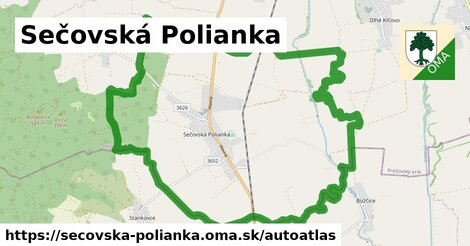 ikona Mapa autoatlas  secovska-polianka