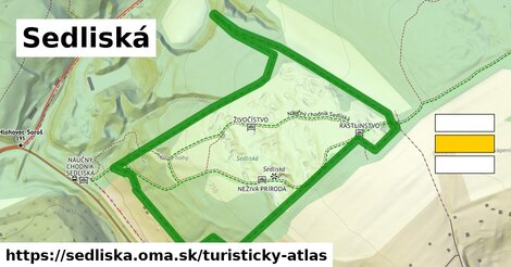ikona Turistická mapa turisticky-atlas  sedliska
