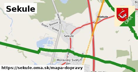 ikona Sekule: 95km trás mapa-dopravy v sekule