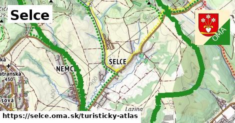 ikona Selce: 16km trás turisticky-atlas  selce
