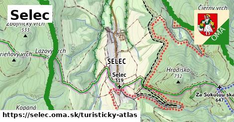 ikona Turistická mapa turisticky-atlas  selec