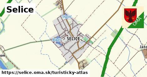 ikona Selice: 5,7km trás turisticky-atlas  selice