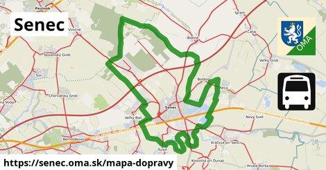 ikona Senec: 231km trás mapa-dopravy  senec