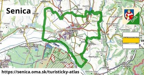 ikona Senica: 44km trás turisticky-atlas  senica