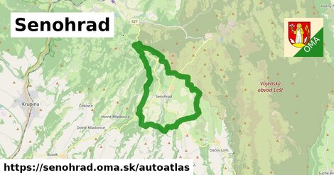 ikona Mapa autoatlas  senohrad