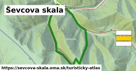 ikona Turistická mapa turisticky-atlas  sevcova-skala