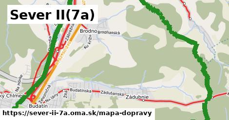 ikona Sever II(7a): 99km trás mapa-dopravy  sever-ii-7a