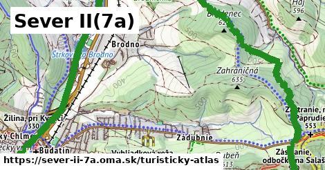 ikona Sever II(7a): 6,8km trás turisticky-atlas v sever-ii-7a