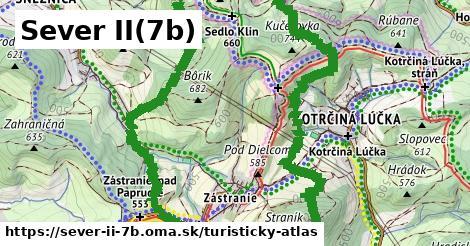 ikona Sever II(7b): 7,8km trás turisticky-atlas v sever-ii-7b
