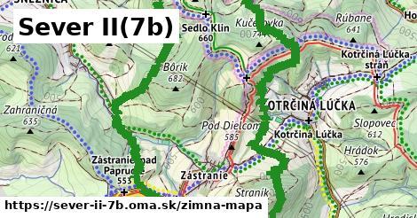 ikona Sever II(7b): 5,3km trás zimna-mapa v sever-ii-7b