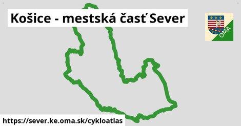 ikona Košice - mestská časť Sever: 60km trás cykloatlas  sever.ke