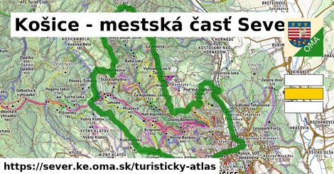 ikona Turistická mapa turisticky-atlas  sever.ke