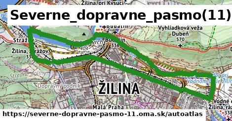 ikona Mapa autoatlas  severne-dopravne-pasmo-11