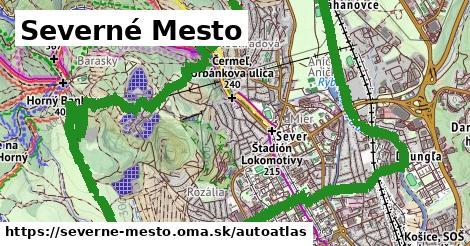 ikona Mapa autoatlas  severne-mesto