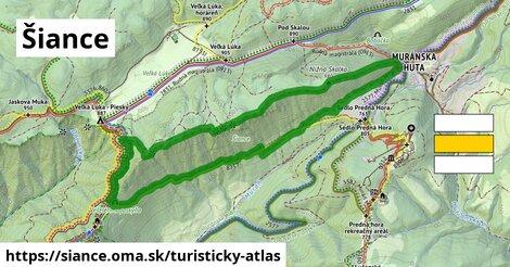 ikona Šiance: 2,2km trás turisticky-atlas  siance