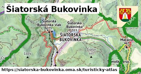 ikona Šiatorská Bukovinka: 30km trás turisticky-atlas  siatorska-bukovinka