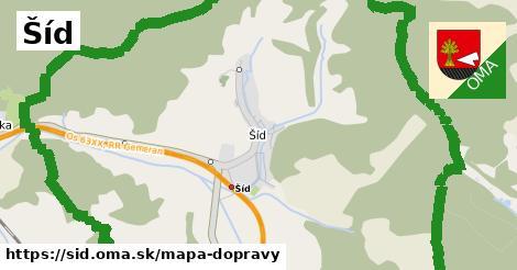 ikona Šíd: 3,9km trás mapa-dopravy  sid