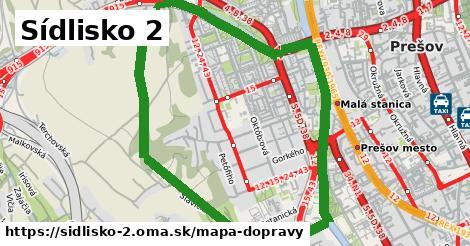 ikona Sídlisko 2: 20km trás mapa-dopravy  sidlisko-2