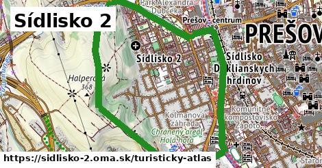 ikona Sídlisko 2: 75m trás turisticky-atlas  sidlisko-2