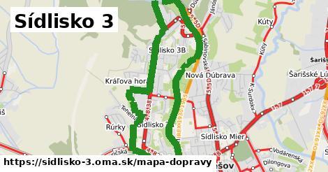 ikona Sídlisko 3: 77km trás mapa-dopravy  sidlisko-3