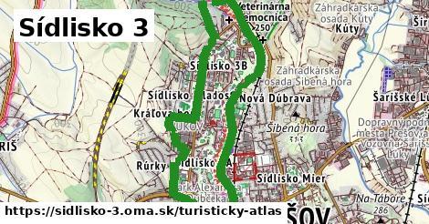 ikona Sídlisko 3: 0m trás turisticky-atlas v sidlisko-3