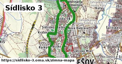 ikona Sídlisko 3: 0m trás zimna-mapa v sidlisko-3