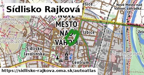 ikona Mapa autoatlas  sidlisko-rajkova
