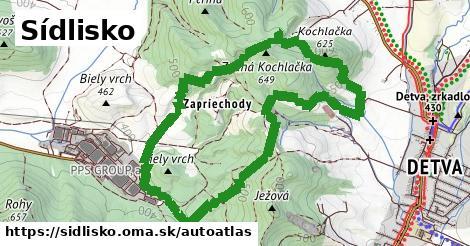 ikona Mapa autoatlas  sidlisko