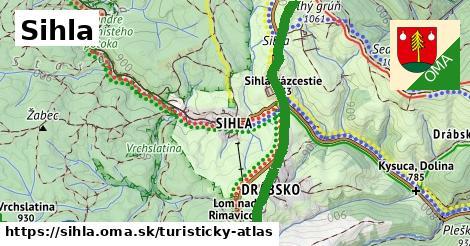 ikona Turistická mapa turisticky-atlas  sihla
