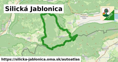 ikona Mapa autoatlas  silicka-jablonica