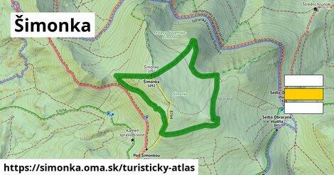 ikona Turistická mapa turisticky-atlas  simonka