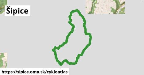 ikona Šipice: 1,93km trás cykloatlas  sipice