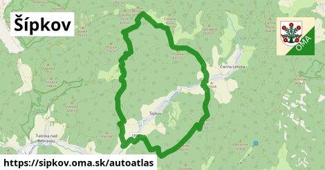 ikona Mapa autoatlas  sipkov