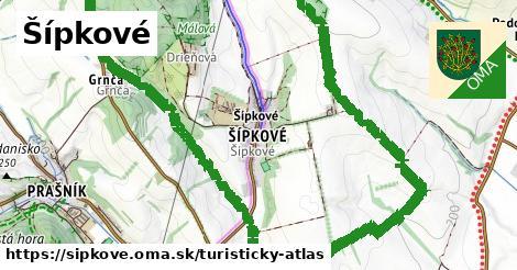 ikona Turistická mapa turisticky-atlas  sipkove
