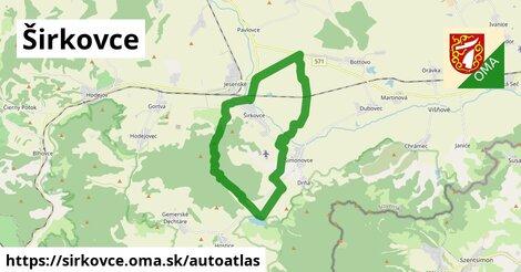 ikona Mapa autoatlas  sirkovce