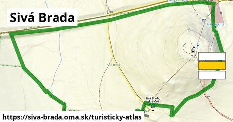 ikona Turistická mapa turisticky-atlas  siva-brada