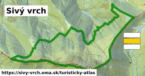 ikona Turistická mapa turisticky-atlas  sivy-vrch