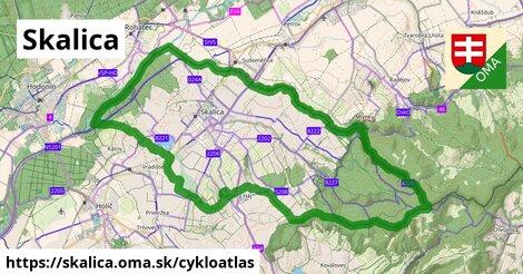 ikona Skalica: 32km trás cykloatlas  skalica