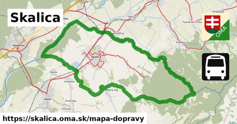 ikona Skalica: 25km trás mapa-dopravy  skalica