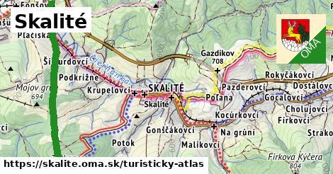 ikona Turistická mapa turisticky-atlas  skalite
