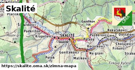 ikona Skalité: 26km trás zimna-mapa  skalite