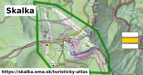 ikona Turistická mapa turisticky-atlas  skalka