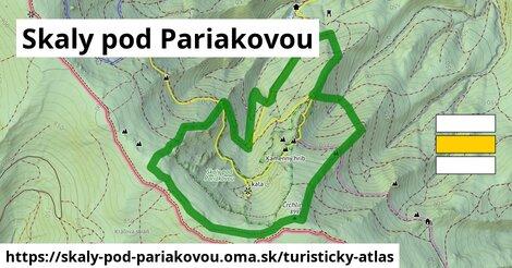 ikona Turistická mapa turisticky-atlas  skaly-pod-pariakovou
