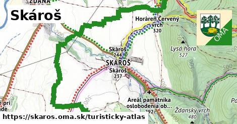 ikona Turistická mapa turisticky-atlas  skaros