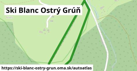 ikona Mapa autoatlas  ski-blanc-ostry-grun