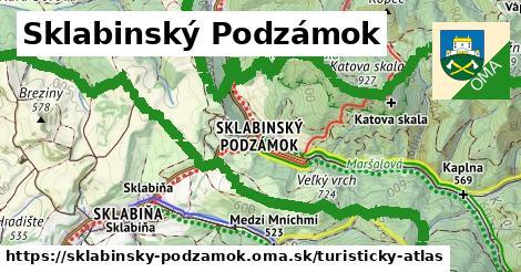 ikona Turistická mapa turisticky-atlas  sklabinsky-podzamok
