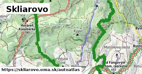 ikona Mapa autoatlas  skliarovo