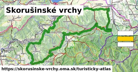 ikona Turistická mapa turisticky-atlas  skorusinske-vrchy