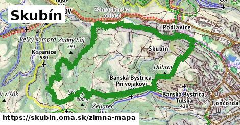 ikona Skubín: 1,81km trás zimna-mapa  skubin